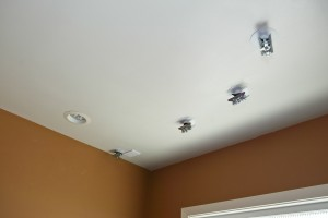 2 - Finished ceiling with kwiktrak attachments